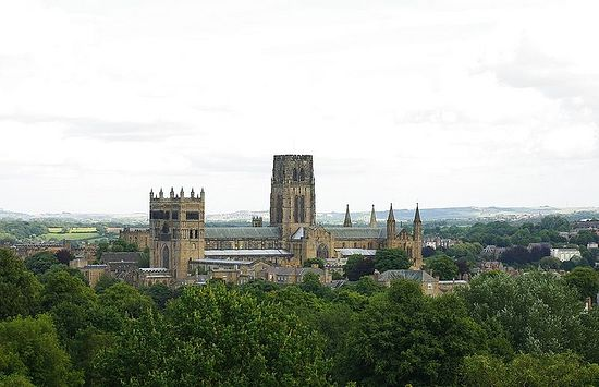 A view of Durham Cathedral from the south