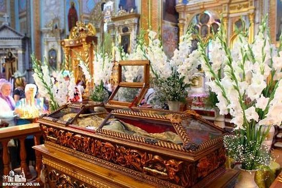 Reliquary with relics of the righteous St. Jonah Atamansky