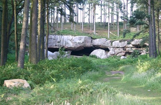 St. Cuthbert's cave in Holburn