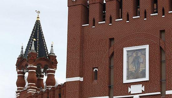 Рестаурирана икона Спаситеља на капији на Спаској кули Московског Кремља. Михаил Џапаризде/ТАСС