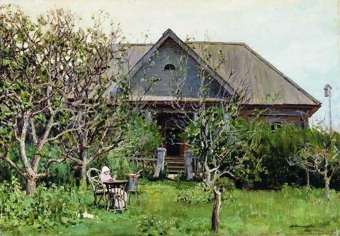 А.М.Васнецов. За варкой варенья, 1892