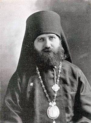 Епископ Тихон (Белавин). Фотография выполнена после его прибытия в Америку (1898 г.)