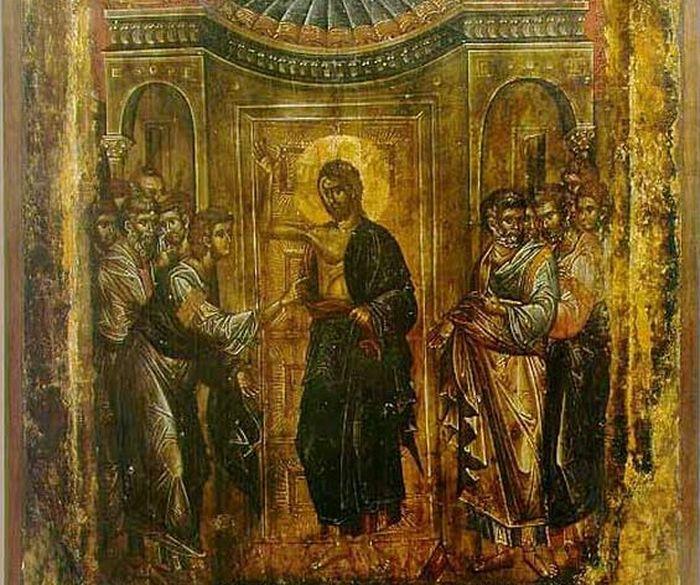 Уверение Фомы. Икона. Охрид, церковь св. Климента, XIV в.