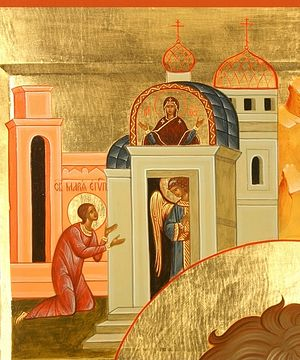 The repentance of St. Mary of Egypt.