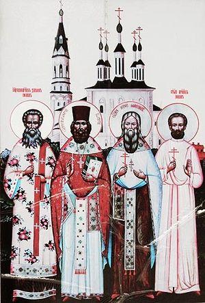 Икона солигаличских новомучеников на месте захоронения