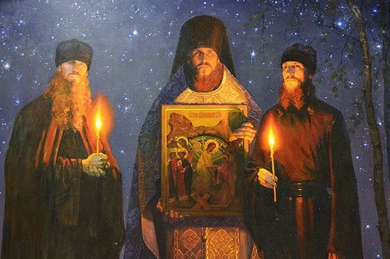 Fr. Vasily, Fr. Trophim, and Fr. Therapont