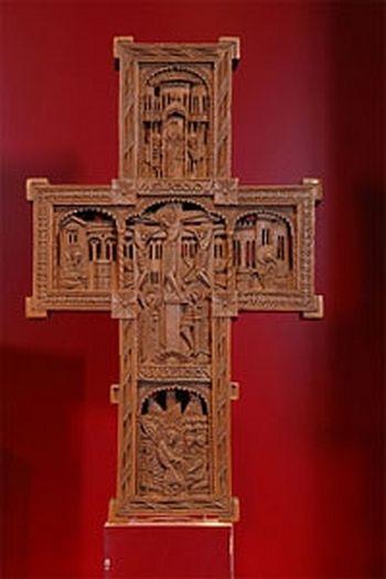Афонский крест-реликварий в Музее сокровищ Домского собора (Регенсбург)