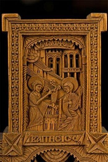 Фрагмент афонского креста-реликвария