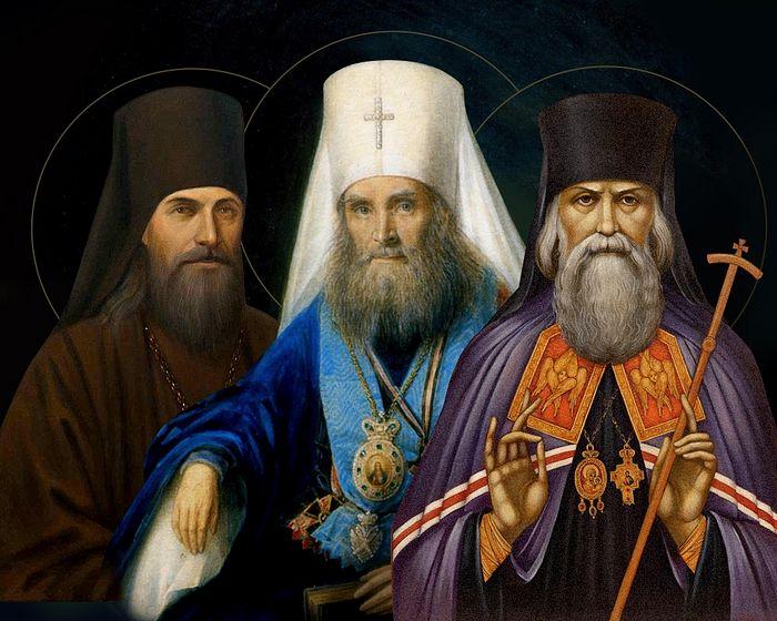 Святители Феофан Затворник, Филарет Московский и Игнатий Кавказский