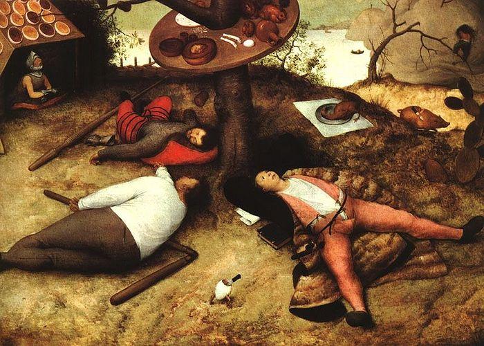 Питер Брейгель Старший. Страна лентяев. 1567