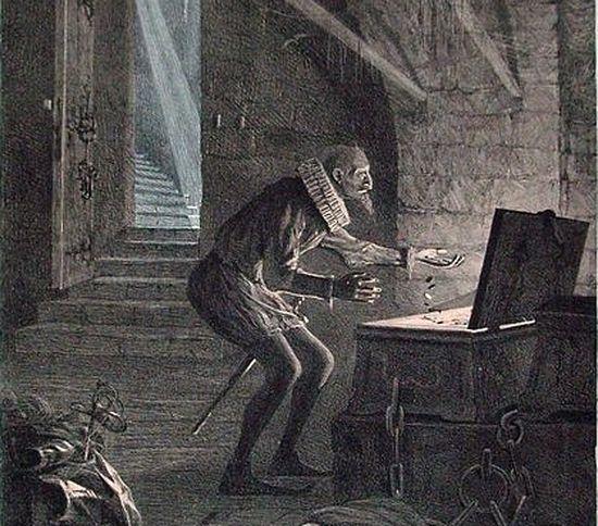 Матвеев Н. С. Скупой рыцарь в подвале. Иллюстрация к трагедии