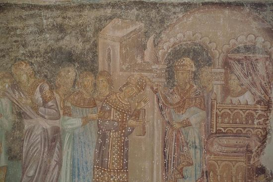 The Righteous Joseph crowned by Pharaoh