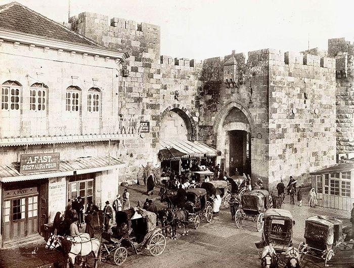 Вход в Яффские ворота старого городе Иерусалима 1910 г.