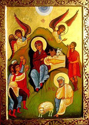 Рождество Христово, современная икона. Грузия
