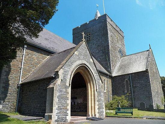 Church of St.Paternus or Padarn in Llanbadarn Fawr, Ceredigion