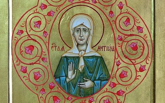 St. Matrona of Moscow. A modern icon.
