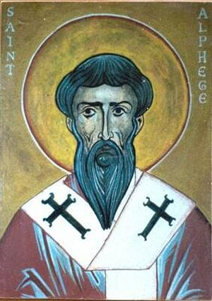 An icon of St. Alphege
