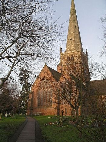 St. Alphege's Church in Solihull, Birmingham, West Midlands