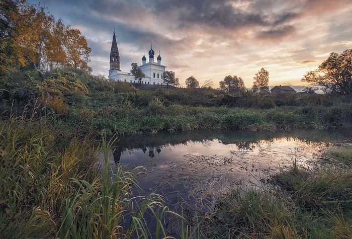 Церковь Казанской иконы Божией Матери в селе Осенево Гаврилов-Ямского района Ярославской области