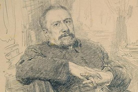 Н. С. Лесков. Рисунок И. Е. Репина