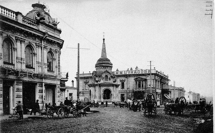 Часовня Христа Спасителя на Александровской площади, 1907 год