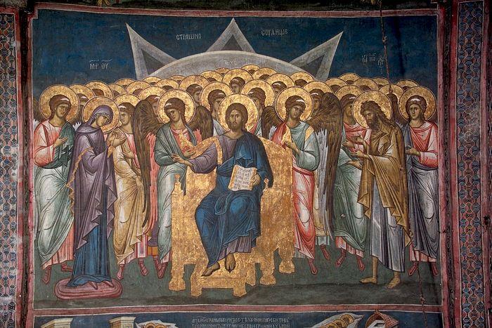 Фреска Страшный суд. Деисус с сонмом ангелов. Сербия, Дечаны. XIV в.