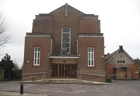 St. Erconwald's RC Church in Walton-on-Thames (taken from Mapio.net)