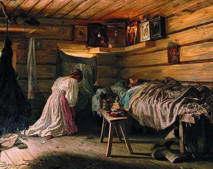 В.М. Максимов. Больной муж. 1881 г.