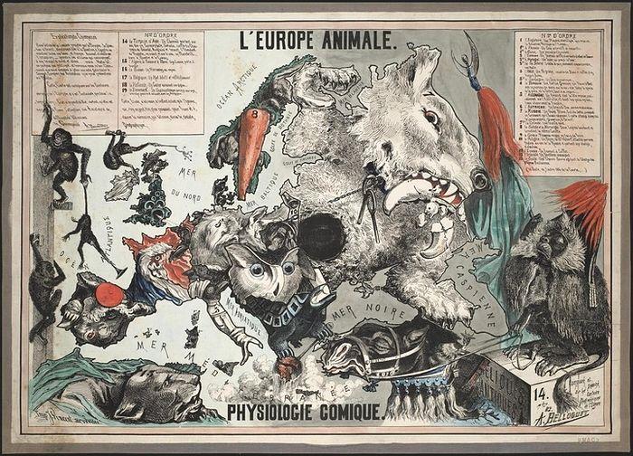 Карикатурная карта Европы