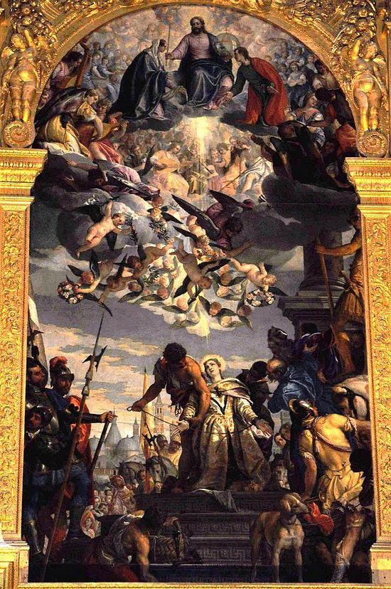 Алтарная картина «Мученичество святой Иустины» работы П. Веронезе
