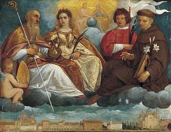 Пьетро Дамини. Четыре небесных покровителя Падуи