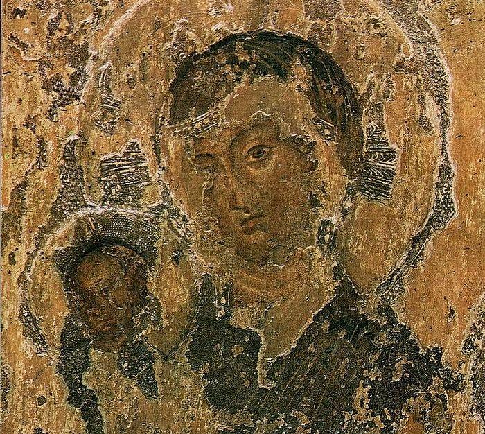 Византийская икона Божией Матери в базилике Св. Иустины