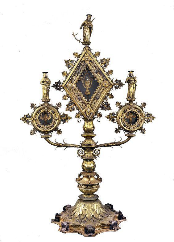 Реликварий с мощами св. Екатерины Александрийской, cв. Марии Магдалины и св. Иустины Пауданской