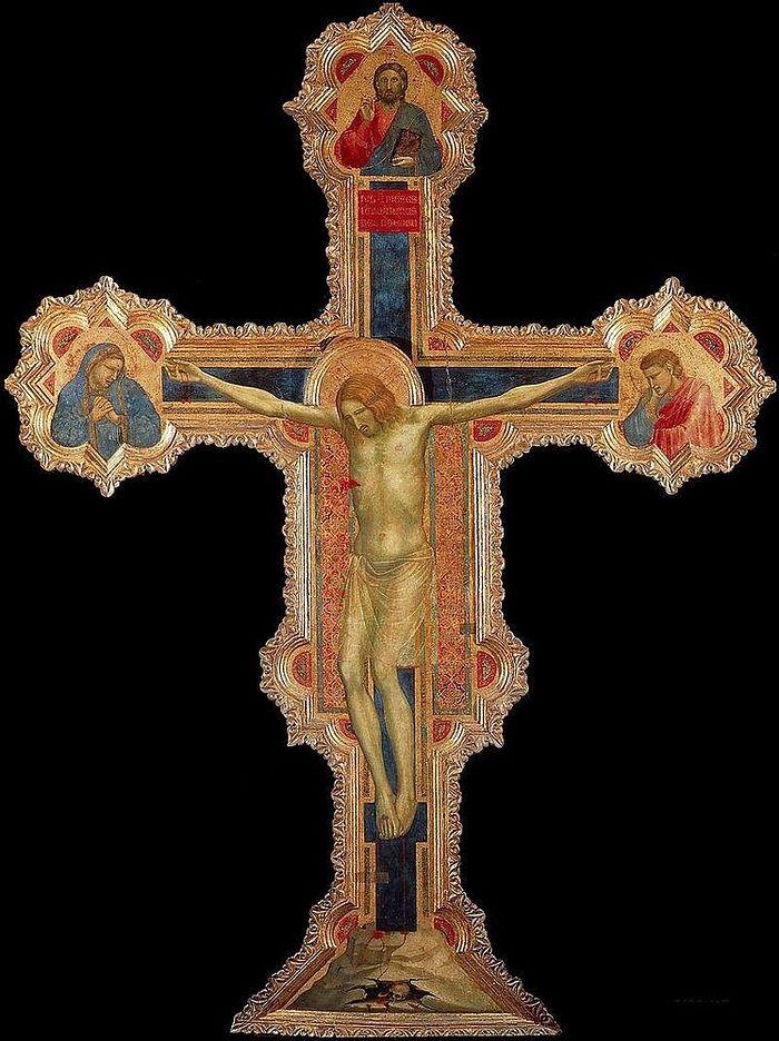 Расписной крест работы Джотто в Городском музее Падуи