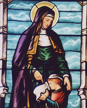 St. Monica with a young St. Augustine
