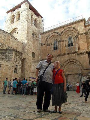 Игорь с Софией в Иерусалиме