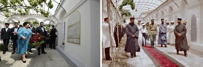 Visit of Royal Martyr Nicholas II (right)