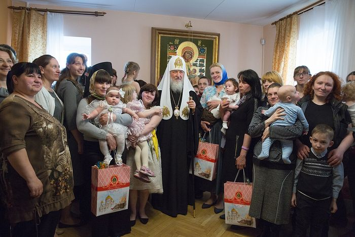 Святейший Патриарх Кирилл в «Доме для мамы»