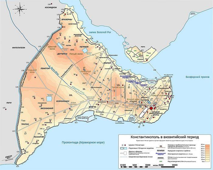 Карта Константинополя