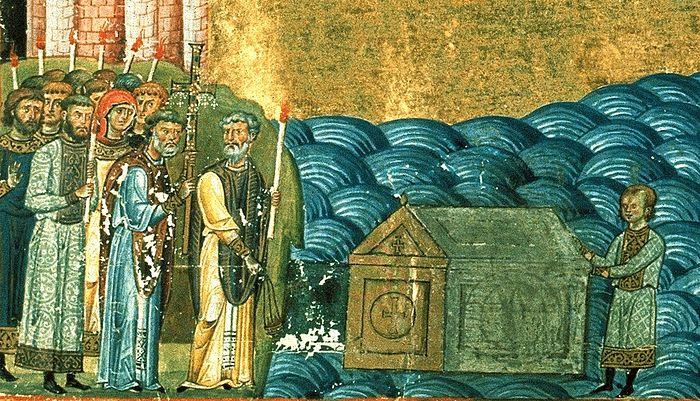Обретение мощей сщмч. Климента, папы Римского, святым Кириллом