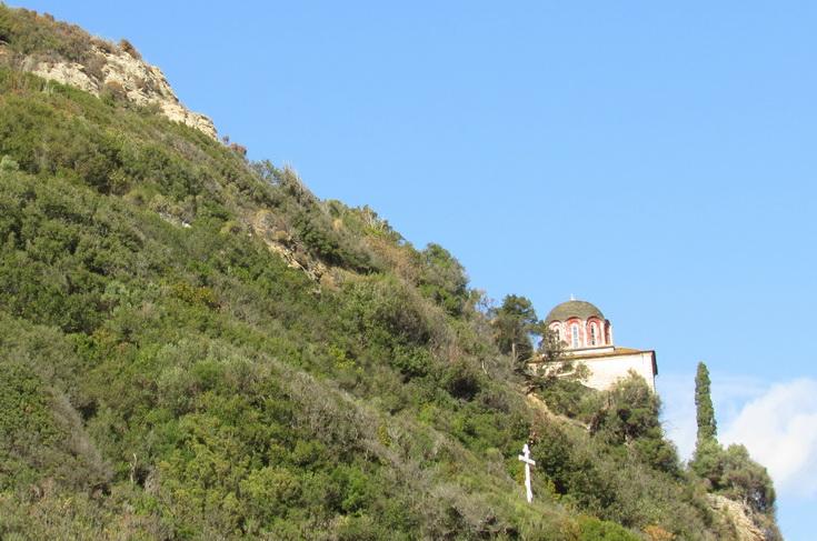 Самарийская гора с часовней прп. Антония, современный вид