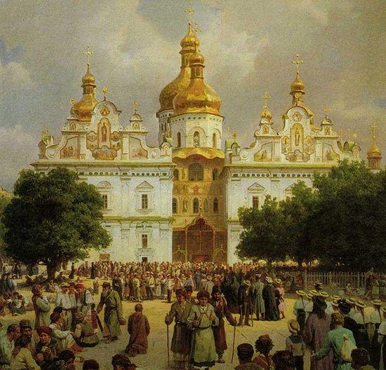 Худ. В.В. Верещагин. «Великая церковь Киево-Печерской Лавры» (1905 г.)