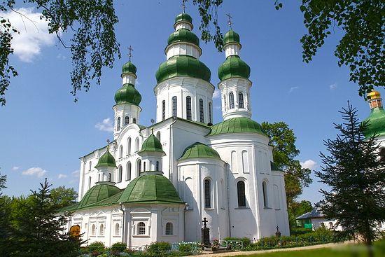 Успенский собор Елецко-Успенского монастыря в Чернигове, нач. XII в., современный вид