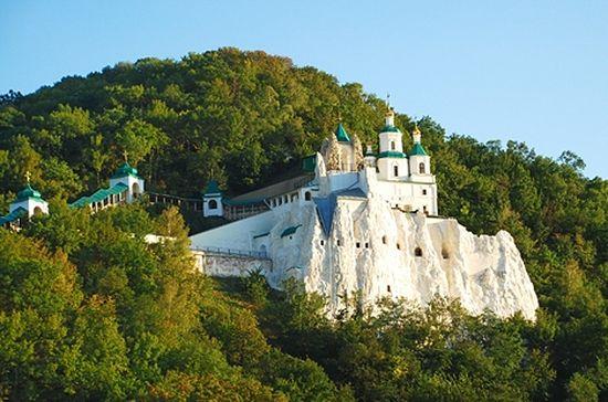 Свято-Успенская Святогорская Лавра на р. Северский Донец, современный вид