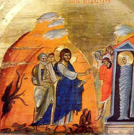 Lazarus obeying the voice of God