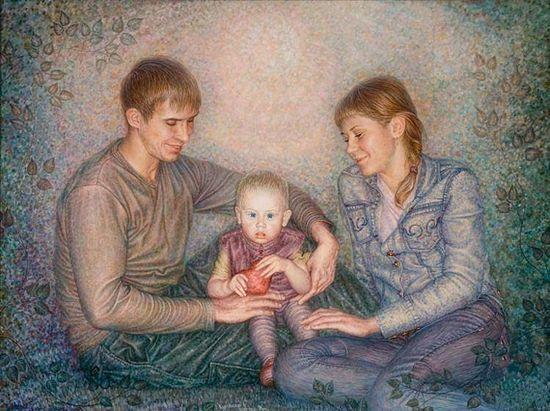 В.Курчинский, «Молодая семья». Изображение с сайта artnow.ru