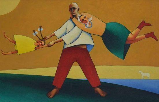 Н.Симкин, «Кружение». Изображение с сайта artnow.ru