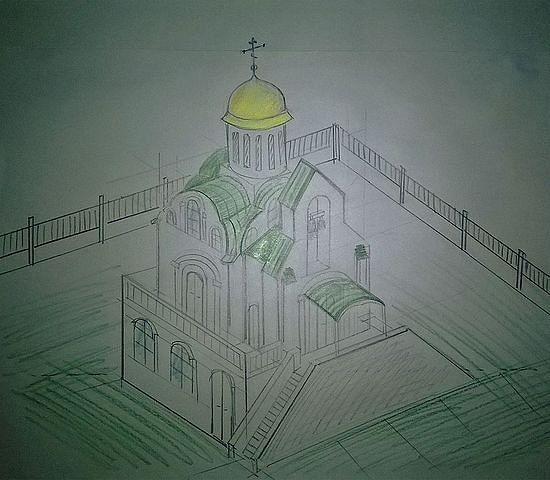 Идејна скица храма преподобног Серафима Саровского на Пангану (Тајланд). http://www.orthodox.or.th
