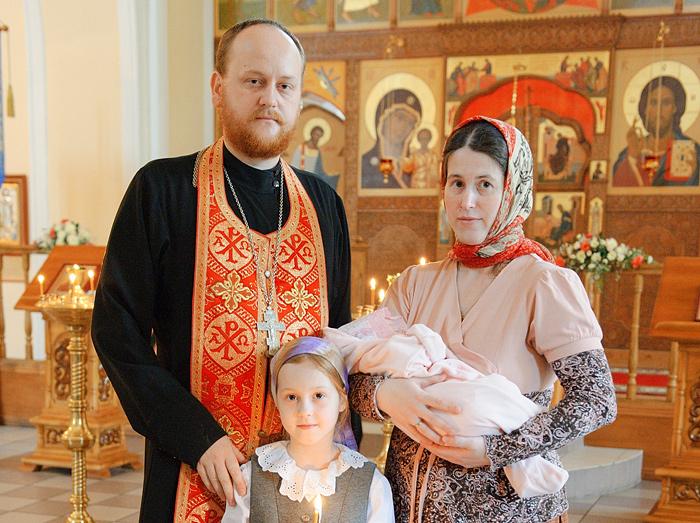Священник Димитрий Любочко, матушка Мария и их семья