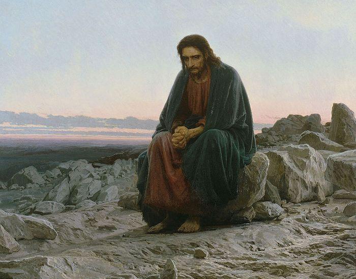 И.Крамской. Христос в пустыне. 1872. Государственная Третьяковская галерея, Москва